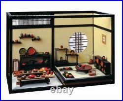 Sosaku Rakuza 1/12 Scale Lacquer Ware Joan Wooden Kit Dollhouse From Japan NM
