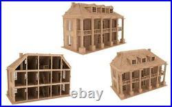 Southern Mansion Dolls House Wooden Laser Cut self build kit (SM)