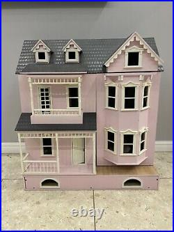 Stunning 3 Storey Victorian Wooden Dolls House Fully Furnished PlusExtrasRRP£500