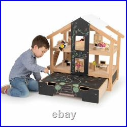 Tidlo Wooden Furnished Open Plan Dolls House