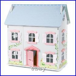 Tidlo Wooden Ivy House Dollshouse Large Wooden Unfurnished Dollhouse Playset