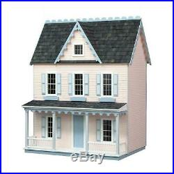 Vermont Farmhouse Jr. Dollhouse Kit Unfinished Wood Doll House Replica Wooden