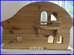 Verneuer Eco Wooden Dolls House Beautifully Crafted With Balcony