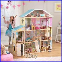 Very Big Wooden Dolls House 4 Barbie with Furniture and Accessories Included