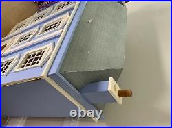 Victorian style dolls house, wooden, 6 rooms, fully decorated