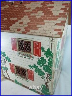 Vintage 1940's Keystone wooden dollhouse