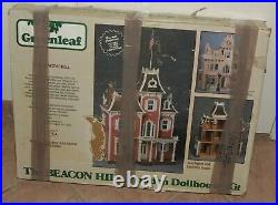 Vintage 1983 Greenleaf The Beacon Hill Wooden Dollhouse Kit 8002 Made In USA
