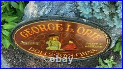 Vintage Antique George L. Orie Pratt St Baltimore MD Dolls Toys Wood Wooden Sign