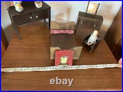 Vintage Antique Wooden Miniature Hand Made Apprentice Dolls House Furniture