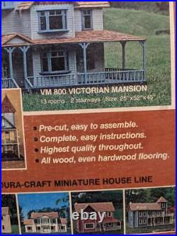 Vintage Dura Craft Victorian Mansion Wooden 13 Rooms DollHouse Kit VM 800