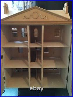 Vintage Handmade Collectors Wooden Large Dolls House