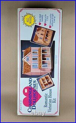 Vintage Hofco Dollhouse Romantic Victorian House Kit Wooden Wood Unbuilt NOS NIB
