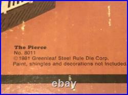 Vintage Pierce Dollhouse Kit Greenleaf Wooden Doll House Kit #8011 New in Box