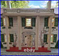 Vintage Wooden Dollhouse 2 Story Colonial Made By Rich Toy