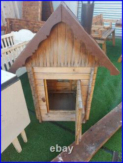 Vintage outdoor wooden house