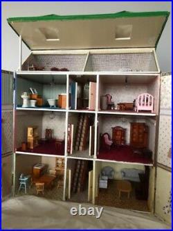 Vintage wooden Handmade dolls house & Furniture Job Lot Like Bly Manor