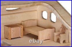 Wooden 3-Level Dollhouse ELIZAVETA Gift for Girl DIY Kit withFurniture Set #1
