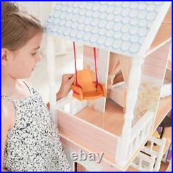 Wooden Dollhouse Furniture Doll Girls Playhouse Play House Barbie Size 13pcs