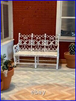 Wooden Dolls House Conservatory With Many Pieces Of Garden Furniture