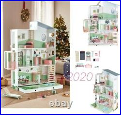 Wooden Dolls House With Furniture Barbie size Doll Furniture & Lift