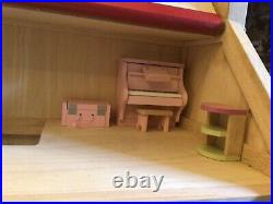 Wooden Dolls House fully furnished