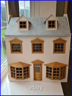 Wooden Dolls house grocery store with furniture