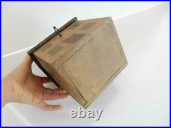 Wooden Georgian Dolls House Tea Caddy Box Lock & Key
