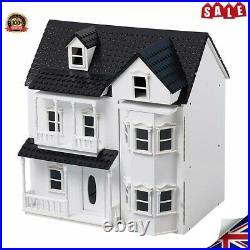 Wooden Kids Dolls House Cottage, Victorian Children Dollhouse Toys Shelves