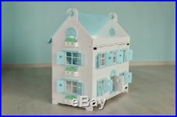 Wooden doll house Mint Marshmallow Gradss Toys