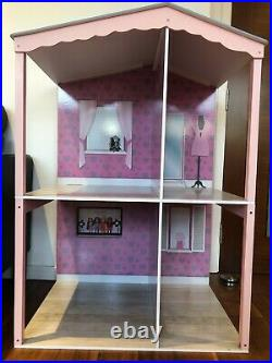 Wooden dolls house (37) plus wooden furniture, Design-a-friend