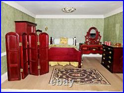 Wooden dolls house and huge amount of furniture. Handmade Very good condition