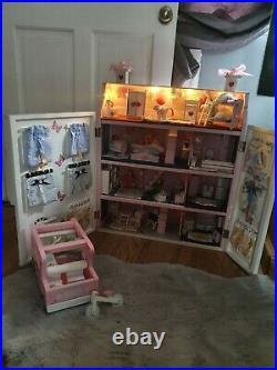 Wooden dolls house furniture bundle