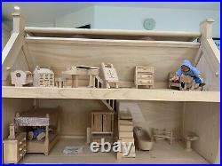 Wooden dolls house with furniture And Additional Sets