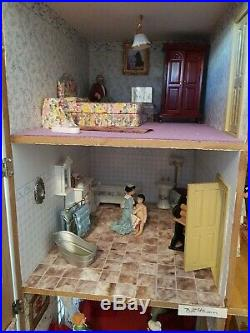 Wow, A Beautiful Mayfair Dolls House Georgian, Wooden, Fully Furnished