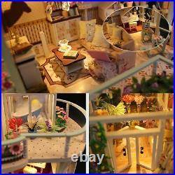 Xuanshengjia Wooden Dollhouse Kit, DIY 3D Wooden Miniature House Without Dust